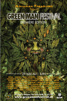 Party flyer: ૐ Green Man Music Festival 2015 ૐ = PREMIER EDITION = Quebec 29 May 15, 15:00h