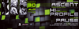 Party flyer: ✦Astral Wave production event: ASCENT / HI PROFILE / PAUSE [LIVE] Ammos 30.5.15 30 May 15, 23:00h