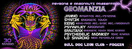 Party flyer: GEOMANZIA - 12 H Psychedelic Party - Psyzone & Argonauti 30 May 15, 22:00h