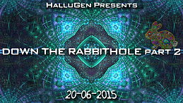 Party flyer: HalluGen Free Open Air : Down The Rabbit Hole 2 20 Jun 15, 18:00h