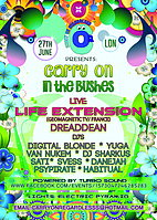 Party flyer: CARRY ON in the BUSHES 27 Jun 15, 22:00h