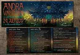 Party flyer: Andra Vaerlden (with BlueHourSounds) 2. Jul 15, 18:00h
