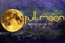 Party flyer: FULL MOON OPEN AIR DANCE 2015 2. Jul 15, 15:00h