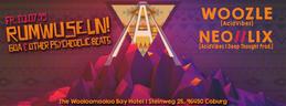 Party flyer: AcidVibes presents RUMWUSELN! I Goa & other psychedelic Beats 3 Jul 15, 22:00h