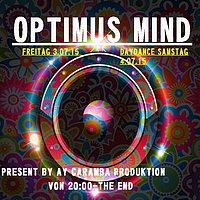 Party flyer: Optimus Mind 3 Jul 15, 20:00h