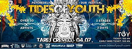 Party flyer: Tides Of Youth (T.O.Y.) Festival 3. Jul 15, 18:00h