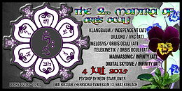 Party flyer: The Second Mantra of Orbis Oculi 4. Jul 15, 22:00h