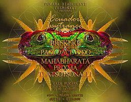 Party flyer: Ecuador Psytrance Party 10. Jul 15, 19:00h