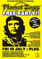 Party flyer: Planet Zogg Free Party!! 10. Jul 15, 23:00h