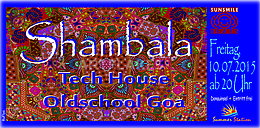 Party flyer: SHAMBALA 10. Jul 15, 20:00h
