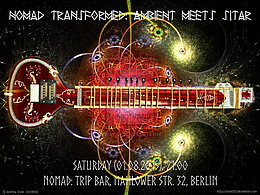 Party flyer: NOMAD Transformed: AMBIENT meets SITAR 1 Aug 15, 21:00h