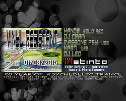 Party flyer: VINYL RESISTANT 20 years of psychedelic trance 1 Aug 15, 23:30h
