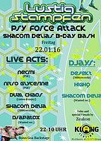 Party flyer: LUSTIG STAMPFEN: PSY FORCE ATTACK 22 Jan '16, 22:00