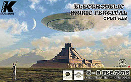 Party flyer: ★ Electrodelic Music Festival Open Air ★ 5. Feb 16, 15:00h