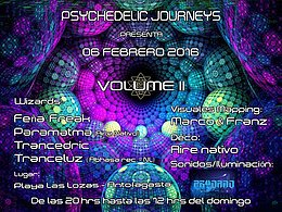 Party flyer: Antofagasta Psychedelic Journeys - Volume II 6. Feb 16, 20:00h