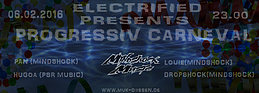 Party flyer: Electrified presents Progressiv Carneval 6 Feb '16, 23:00h