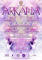 Party flyer: EPIC Tribe pres. ARKANA 6 Feb '16, 20:00h