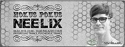 Party flyer: HOKUS POKUS: Neelix, Junction, Simply D a.m.m. 6. Feb 16, 22:00h