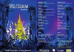 Party flyer: WELTTRAUM WIEGENFEST - Wir feiern 1 Jahr WELTTRAUM 6 Feb '16, 22:00h