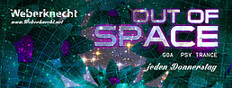 Party flyer: OUT OF SPACE@WEBERKNECHT FEMALE SPECIAL 11. Feb 16, 22:00h