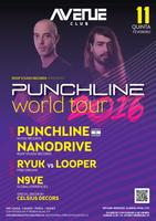 Party flyer: PUNCHLINE WORLD TOUR - COIMBRA 11 Feb '16, 23:30h