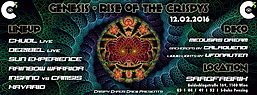 Party flyer: GENESIS - Rise of the Crispys 12. Feb 16, 22:00h