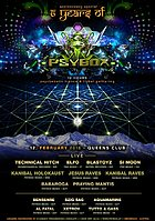 Party flyer: PSYBOX - 6 YEARS ANNIVERSARY 12. Feb 16, 22:00h