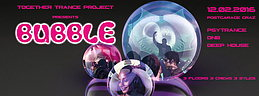 Party flyer: BUBBLE @ Postgarage Graz 12. Feb 16, 23:00h