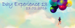 Party flyer: Day Experience 13 13. Feb 16, 23:00h