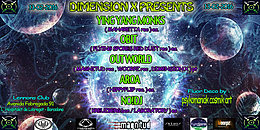 "Party flyer: DIMENSION X PRESENTS : "" SIGNALS FROM INNER SPACE "" 13 Feb '16, 22:00h"