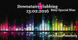Party flyer: downstairs clubbing 1.0 13 Feb '16, 21:00h
