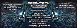 Party flyer: @@@FREAKTECH@@@ caveman-doc-ganpati-otx 13. Feb 16, 22:00h