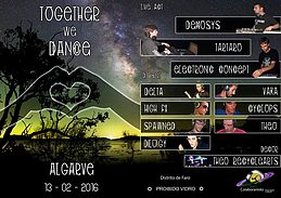 Party flyer: Together we Dance 13. Feb 16, 23:00h
