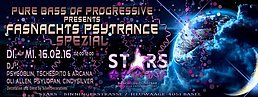 Party flyer: ✯ Pure Bass of Progressive presents - Fasnachts Psytrance Spezial ✯ STARS ✯ 17 Feb '16, 02:00h