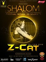 Party flyer: shalom festival promo party Z -Cat Live 19 Feb '16, 20:00h