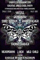 Party flyer: CReATiVe JuNgLe LaBeL Party - YATZEE - BIOMEKANIK - THOMAS DARKER & MOrE live!! 20 Feb '16, 22:00h