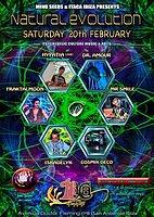 Party flyer: NATURAL EVOLUTION 20 Feb '16, 22:00h