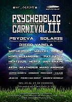 Party flyer: Psychedelic Carnival 3 - psychedelic trance festival 20 Feb '16, 12:00h