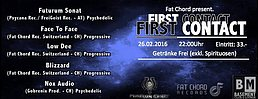 "Party flyer: Labelrelease - Fat Chord Switzerland - ""First Contact"" 26 Feb '16, 22:00h"