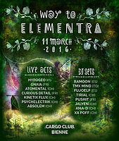Party flyer: WAY TO ELEMENTRA PARTY 11 Mar '16, 21:00h