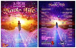 Party flyer: Magic of Life 26 Mar '16, 21:00h