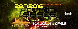 Party flyer: Out Of Space @ Weberknecht - zero gravity special 28 Jul '16, 22:00h