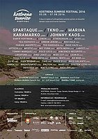 Party flyer: Kostrena Sunrise Festival 5 Aug '16, 18:00h