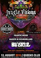 Party flyer: PSYBOX - *** JUNGLE VISIONS *** with BLASTOYZ / GHOST RIDER / FRANTIC NOISE / .. 12 Aug '16, 22:00h