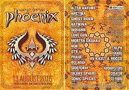 Party flyer: Phoenix Festival 2016 13 Aug '16, 12:00h