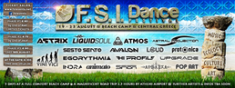 Party flyer: F.S.I DANCE FESTIVAL (19-23 August), BEACH Camp, Central GREECE. 19 Aug '16, 19:00h