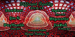 Party flyer: Different Reality - Round Number 10 24 Aug '16, 23:00h