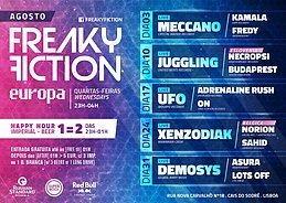 Party flyer: FREAKY FICTION 24 Aug '16, 23:00h