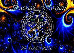 Party flyer: Sacred Garden 24 Aug '16, 15:00h
