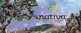 Party flyer: Nativa Festival 25 Aug '16, 10:00h